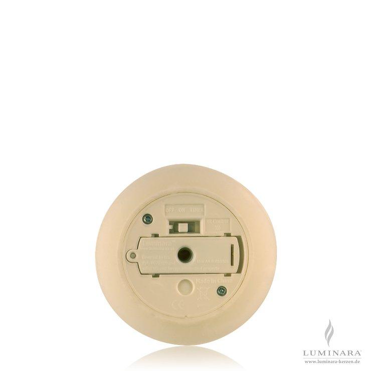 Luminara LED Kerze Echtwachs 8x17 cm elfenbein fernbedienbar glatt AKTION - Pic 2