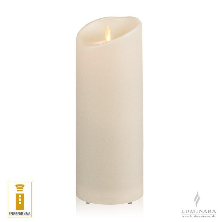 Luminara LED Kerze Outdoor 9x23 cm elfenbein fernbedienbar - Pic 1