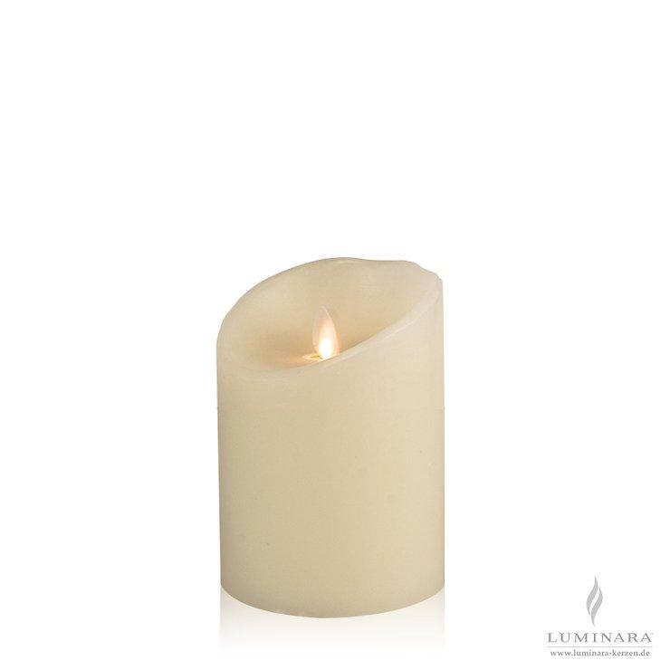 Luminara LED Kerze Echtwachs 10x14 cm elfenbein glatt AKTION - Pic 1