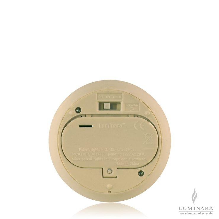 Luminara LED Kerze Echtwachs 10x14 cm elfenbein glatt AKTION - Pic 2