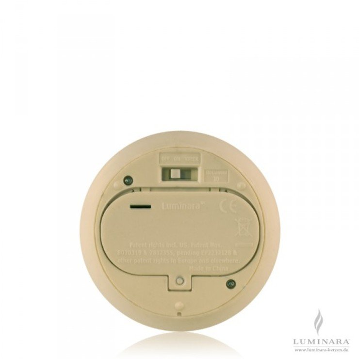 Luminara LED Kerze Echtwachs 10x13 cm elfenbein fernbedienbar - Pic 2