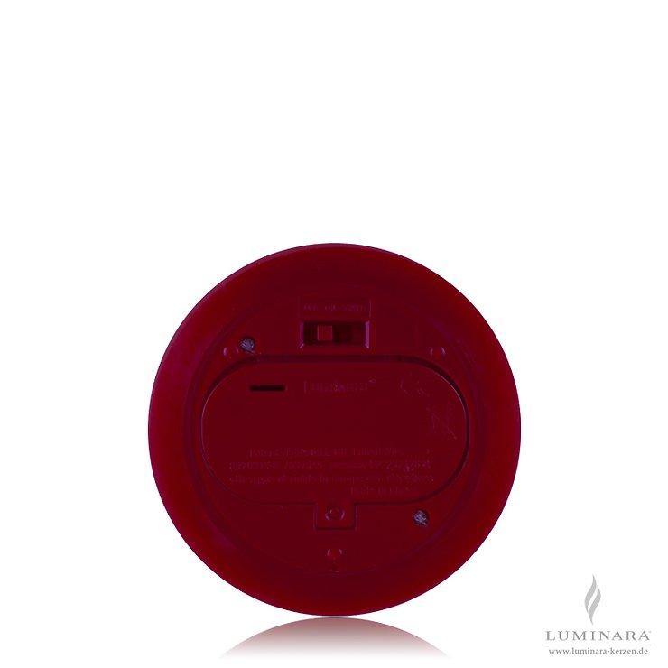 Luminara LED Kerze Echtwachs 10x18 cm bordeaux glatt AKTION - Pic 2