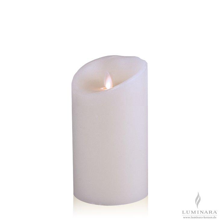Luminara LED Kerze Echtwachs 10x18 cm weiß glatt AKTION - Pic 1