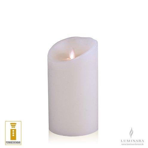 luminara led kerze echtwachs 10x18 cm wei fernbedienbar. Black Bedroom Furniture Sets. Home Design Ideas