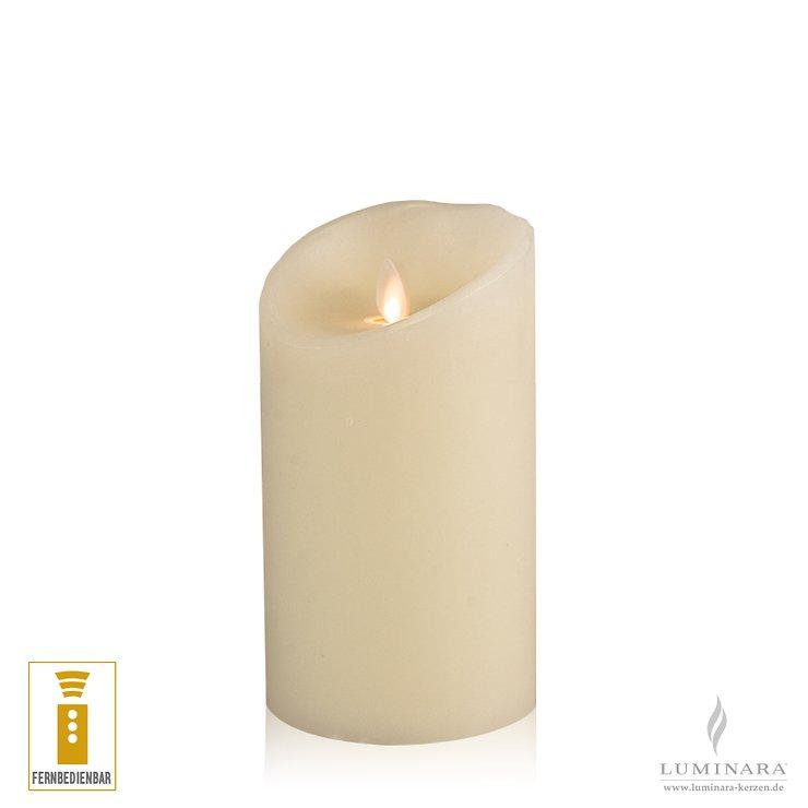 Luminara LED Kerze Echtwachs 10x18 cm elfenbein fernbedienbar - Pic 1