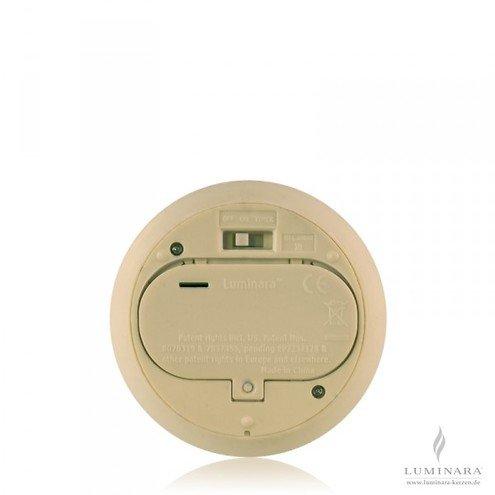 luminara led kerze echtwachs 10x18 cm elfenbein. Black Bedroom Furniture Sets. Home Design Ideas