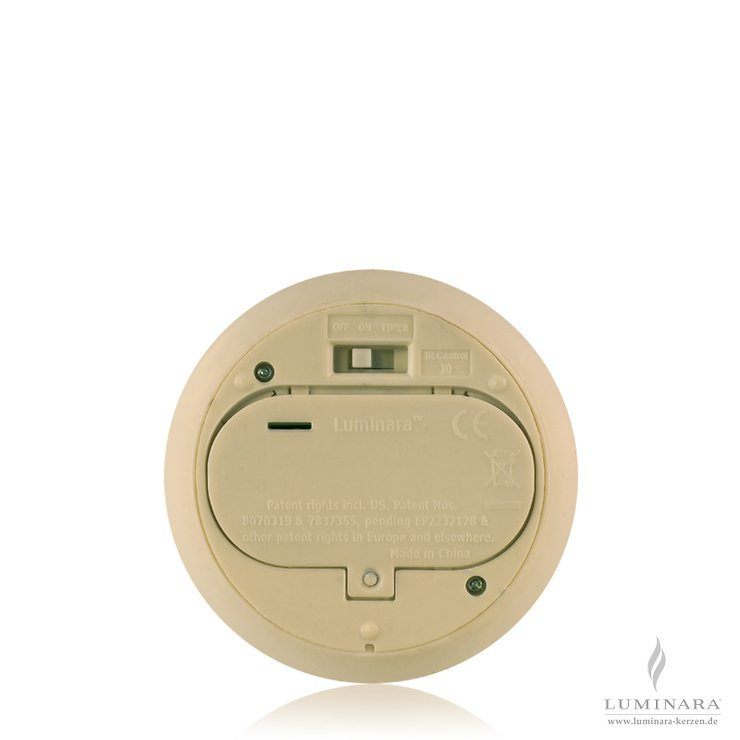 Luminara LED Kerze Echtwachs 10x23 cm elfenbein fernbedienbar - Pic 2