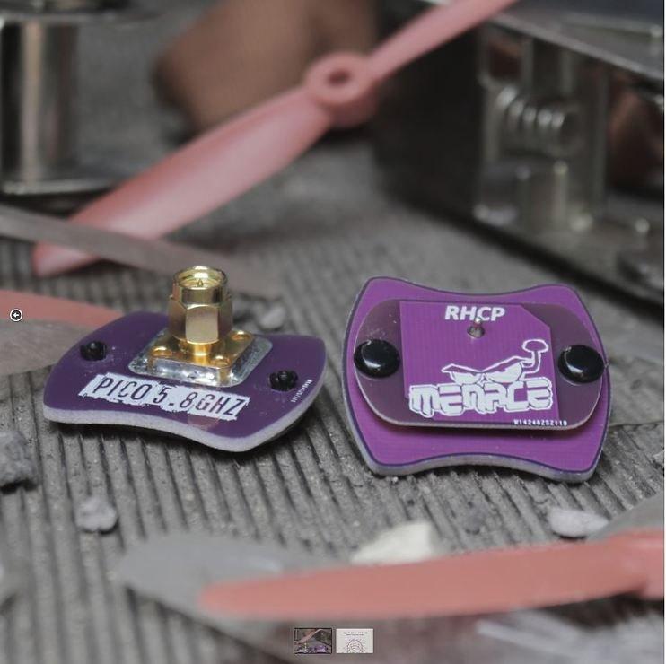 Menace PicoPatch FPV Antenne RHCP Polarisiert 5.8 Ghz SMA - Pic 1