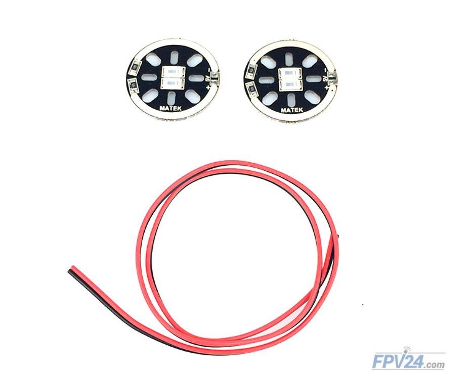 Matek LED CIRCLE X2 5V Red (2pcs) - Pic 1