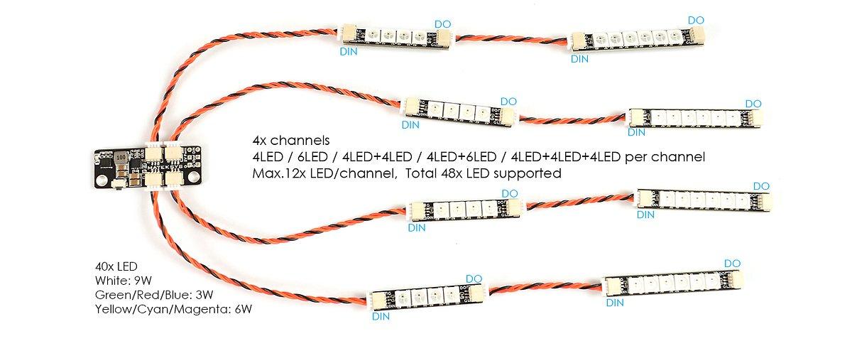 Matek Systems RGB W2812 4 LEDs 4 Stück - Pic 3
