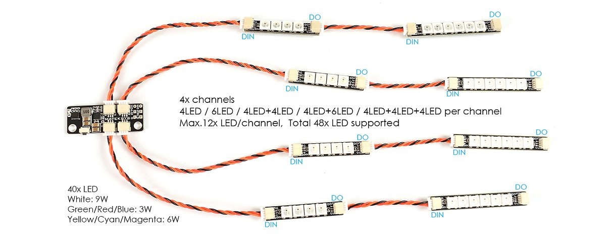Matek Systems RGB W2812 6 LEDs 4 Stück - Pic 2
