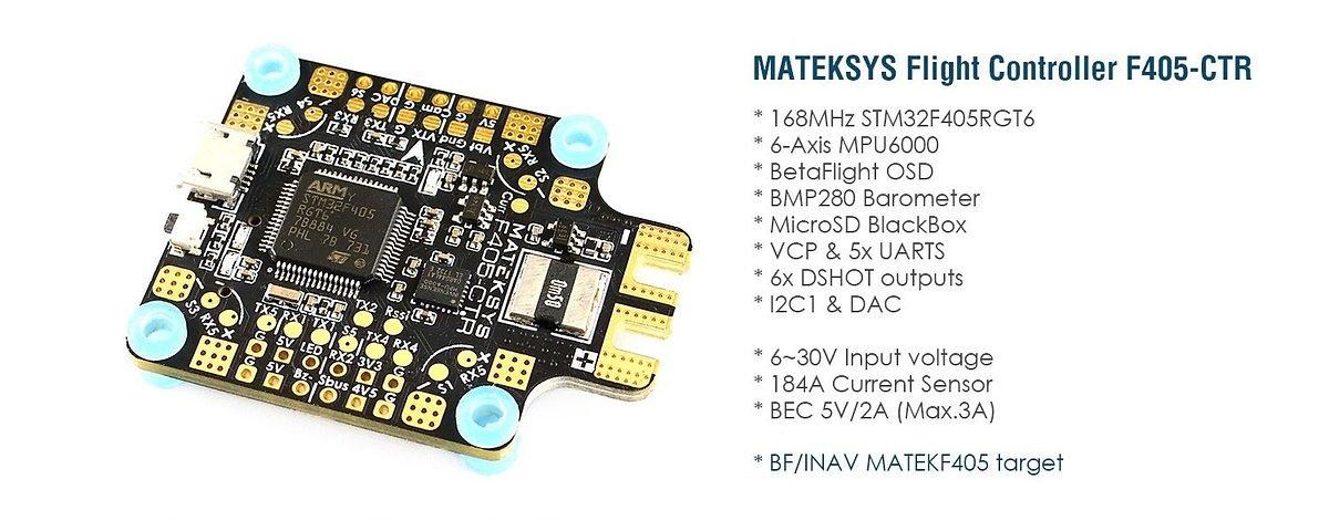 Matek Systems Flight Controller F405-CTR AIO PDB OSD BEC BARO - Pic 2