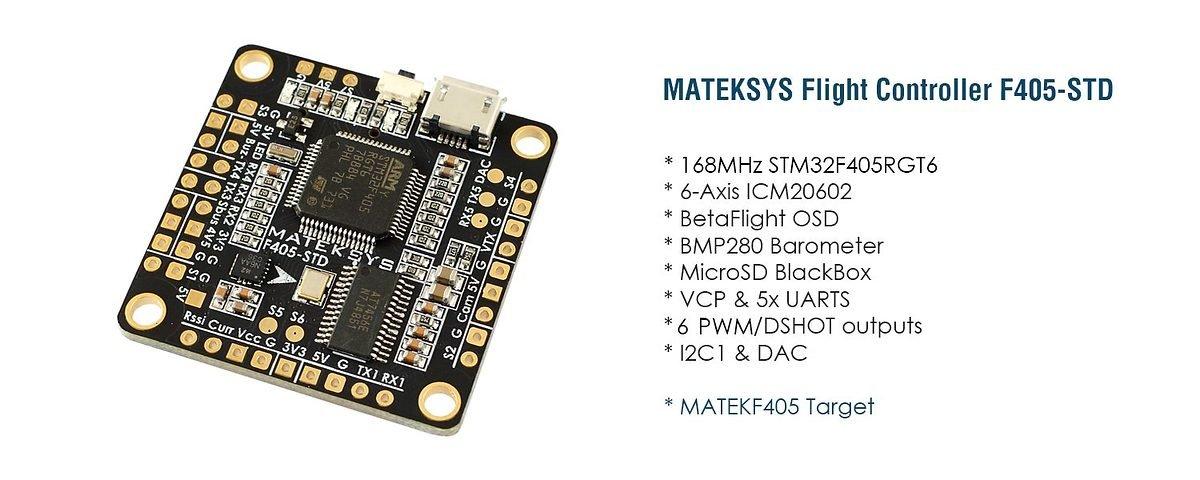 Matek Systems Flight Controller F405-STD mit OSD und Baro - Pic 2