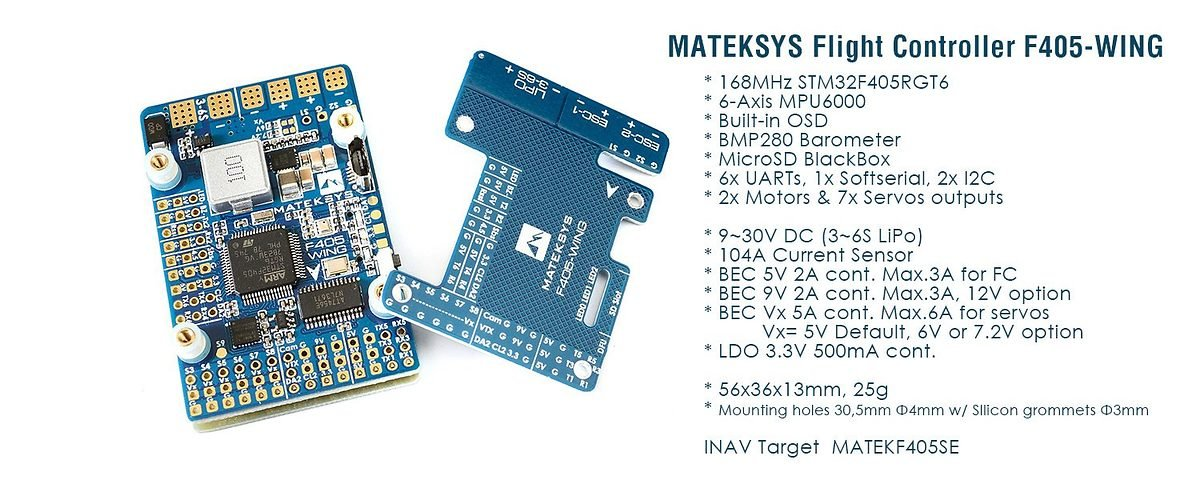 Matek Systems Flight Controller F405-Wing - Pic 2