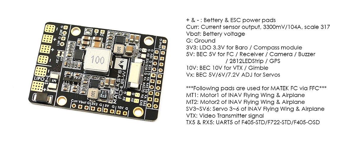 Matek Systems PDB für Wings FCHUB-W - Pic 3