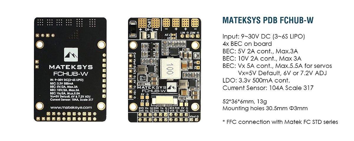 Matek Systems PDB für Wings FCHUB-W - Pic 2