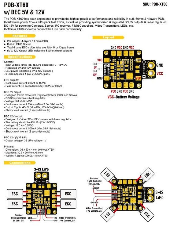 Matek PDB-XT60 mit BEC 5V & 12V - Pic 7