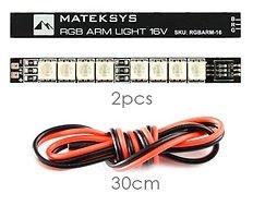 Matek Systems RGB 16V 8 LEDs 2 Stück 65x7mm