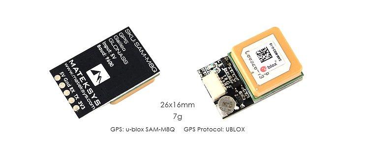 Matek Systems GPS Ublox SAM-M8Q
