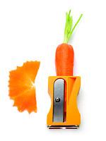 Monkey Business Gemüseschäler und -spitzer Karoto orange