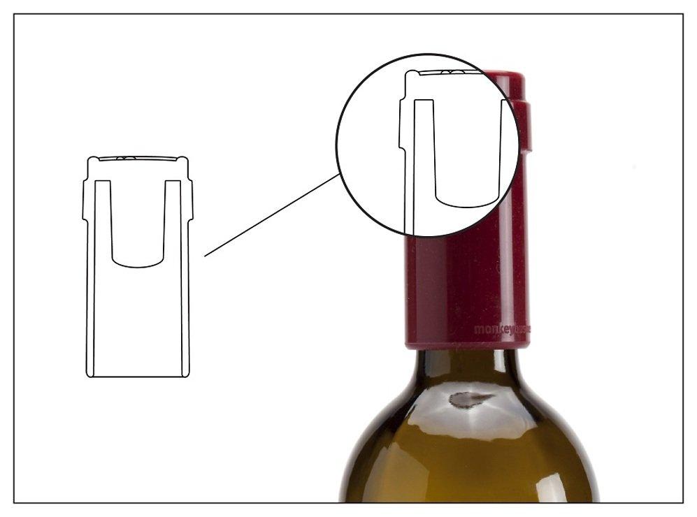 Monkey Business Flaschenverschluss Tip Top rot - Pic 5