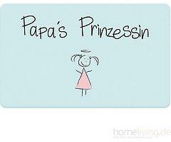 Mea Living Frühstücksbrettchen Melamin Papas Prinzessin blau