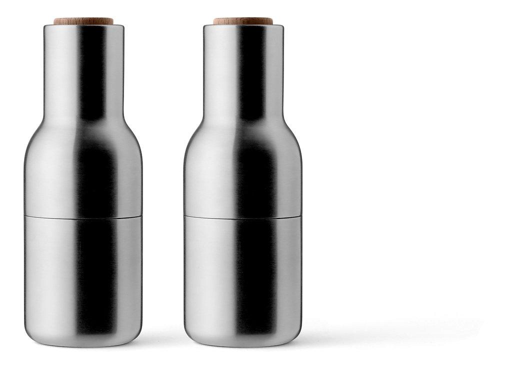 Menu Salz- und Pfeffermühle Bottle Grinder 2er Set Edelstahl gebürstet - Pic 1