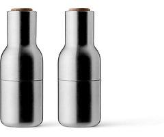 Menu Salz- und Pfeffermühle Bottle Grinder 2er Set Edelstahl gebürstet