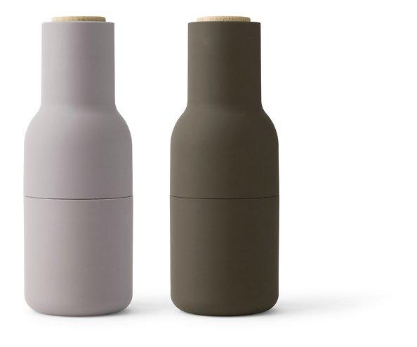 Menu Salz- und Pfeffermühle Bottle Grinder 2er Set grün beige
