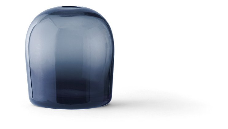 Menu Vase Troll Glas 10cm mitternachtsblau