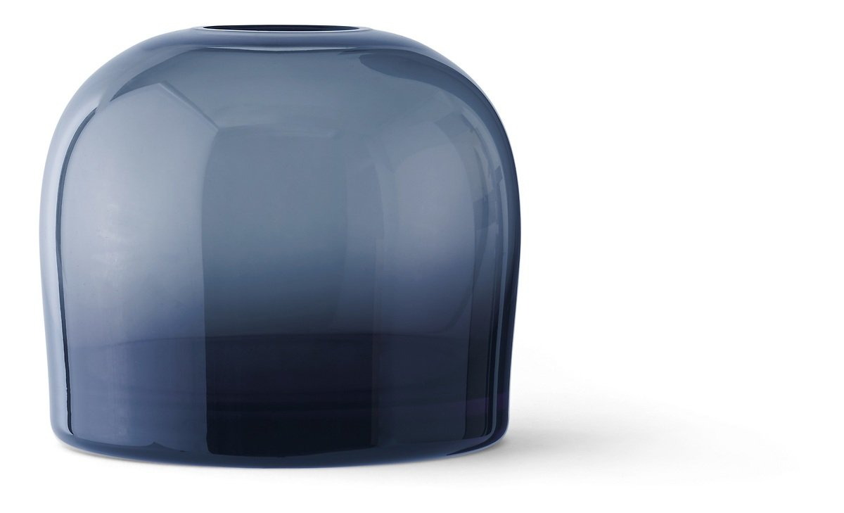 Menu Vase Troll M 14 x 12 cm Glas mitternachtsblau - Pic 1