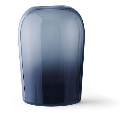 Menu Vase Troll L 13 x 19 cm Glas mitternachtsblau