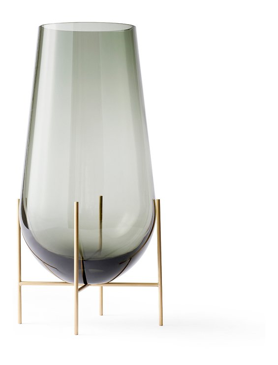 Menu Vase Echasse S Glas 28 cm rauchgrau - Pic 1