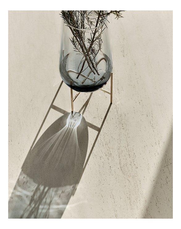 Menu Vase Echasse S Glas 28 cm rauchgrau - Pic 3