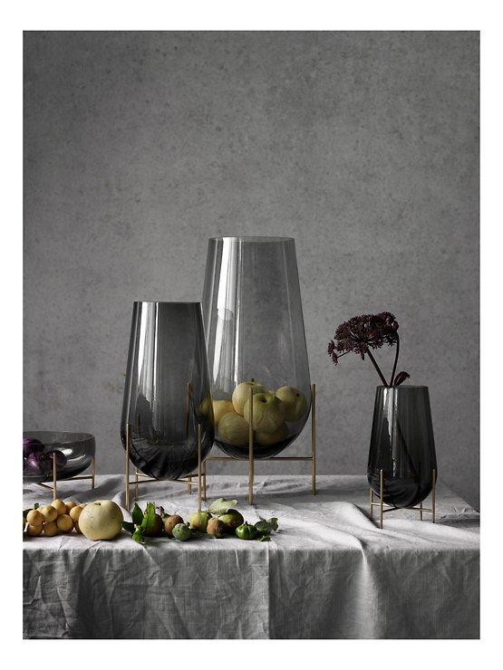 Menu Vase Echasse S Glas 28 cm rauchgrau - Pic 2