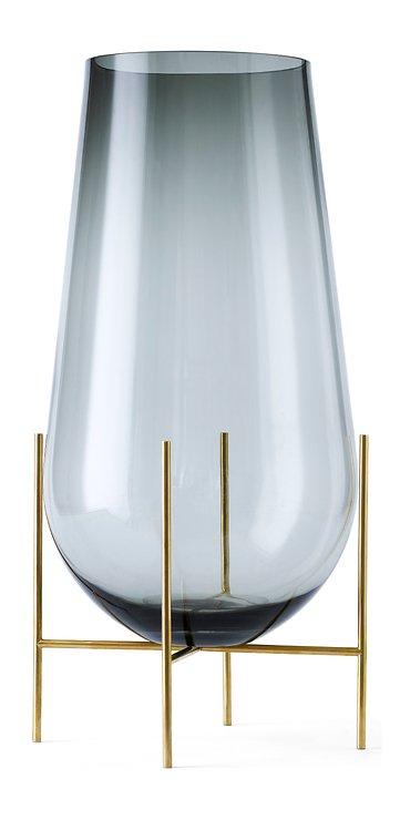 Menu Vase Echasse L Glas 60 cm rauchgrau - Pic 1