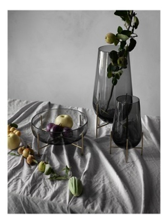 Menu Schale Echasse Glas 29,5 cm rauchgrau - Pic 2
