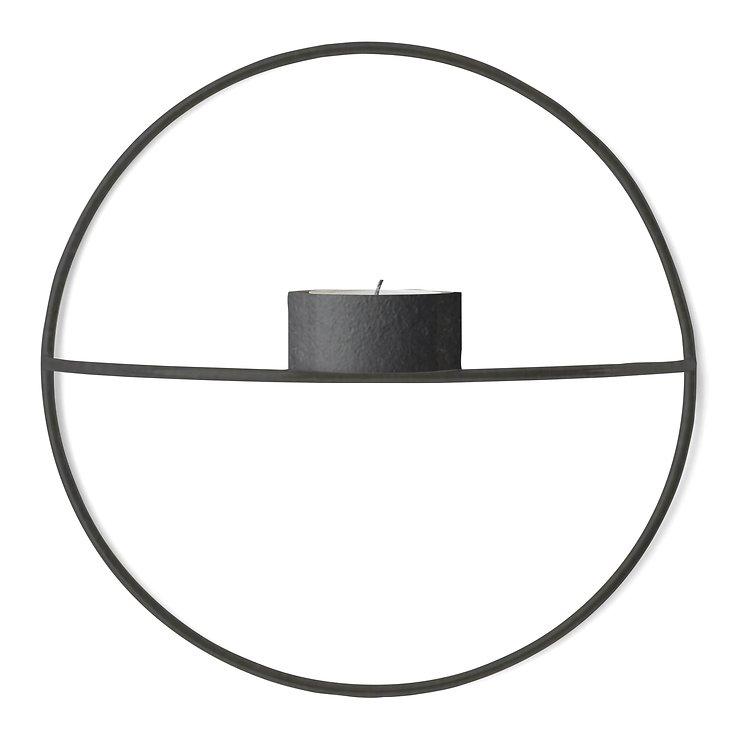 Menu POV Circle Teelichthalter S 20 cm Stahl schwarz - Pic 1