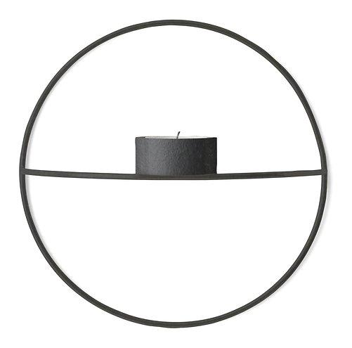 Menu POV Circle Teelichthalter S 20 cm Stahl schwarz