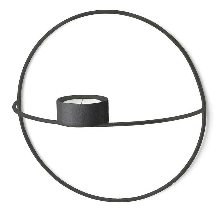 Menu POV Circle Teelichthalter S 20 cm Stahl schwarz - Pic 3