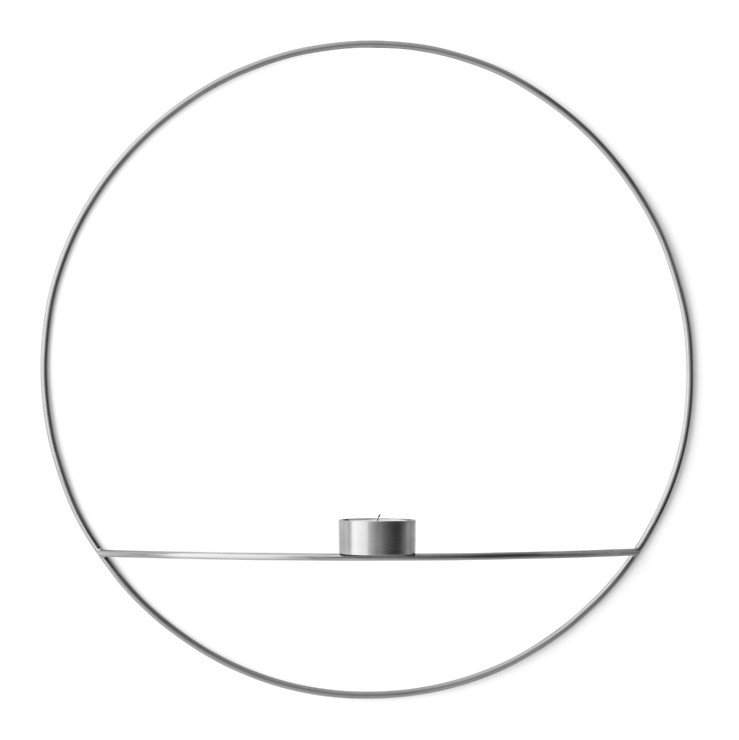 Menu POV Circle Teelichthalter L 44 cm Messing versilbert - Pic 1