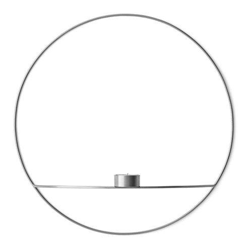 Menu POV Circle Teelichthalter L 44 cm Messing versilbert