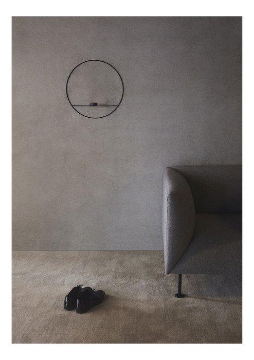 Menu POV Circle Teelichthalter L 44 cm Stahl schwarz - Pic 2