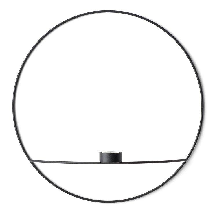 Menu POV Circle Teelichthalter L 44 cm Stahl schwarz - Pic 1