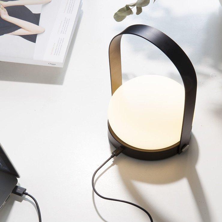 Menu LED Lampe Carrie 13,5 x 24,5cm Stahl schwarz - Pic 3