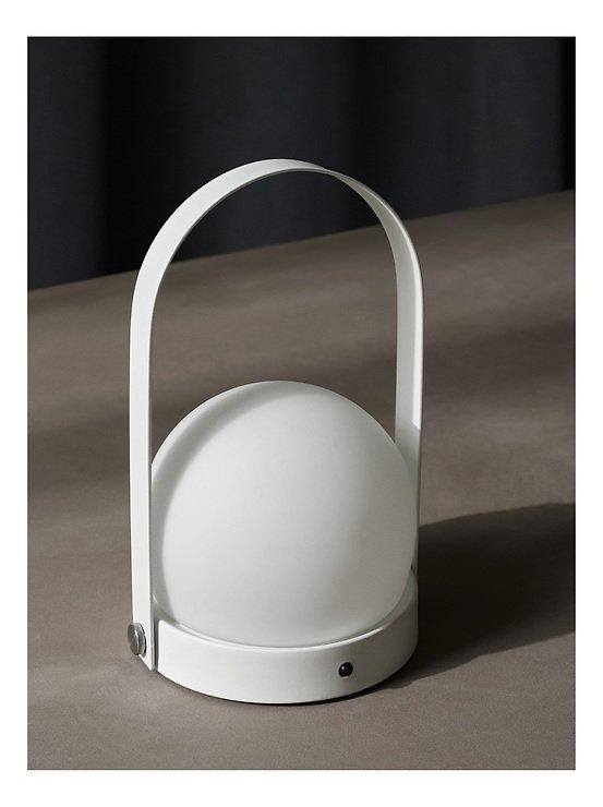 Menu LED Lampe Carrie 13,5 x 24,5 cm Stahl weiß - Pic 1