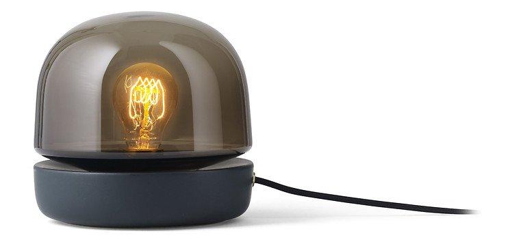 Menu Tischlampe Stone Lamp Keramik 20 x 19 cm Glas anthrazit