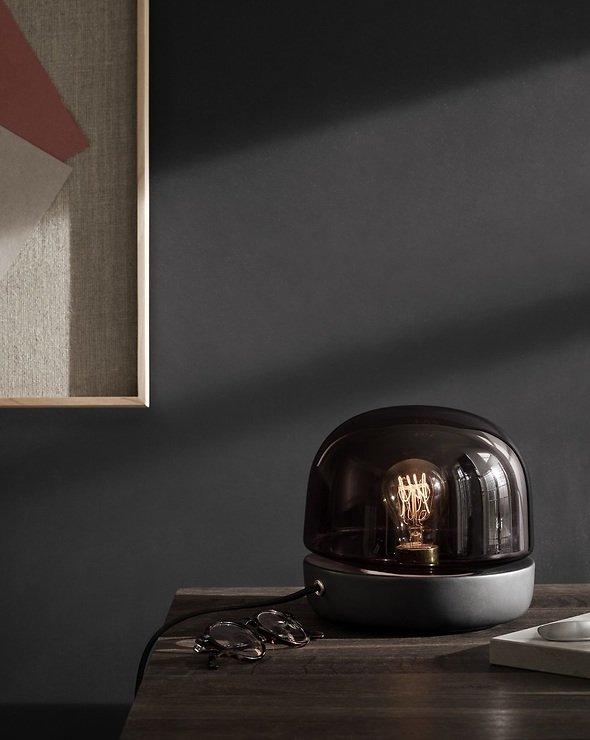 Menu Tischlampe Stone Lamp Keramik 20 x 19 cm Glas anthrazit - Pic 2