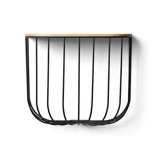 menu wandregal fuwl esche metall schwarz kaufen. Black Bedroom Furniture Sets. Home Design Ideas