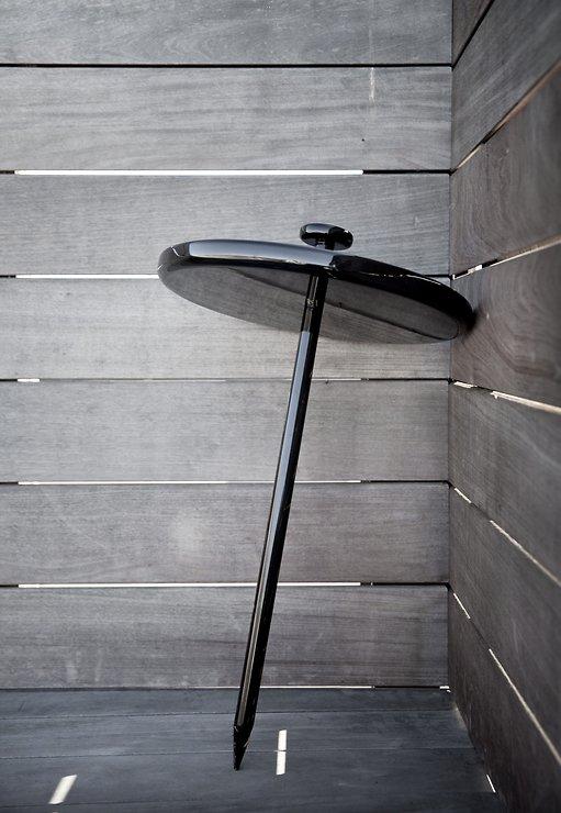 Menu Beistelltisch Pin Table 40cm Holz schwarz - Pic 5